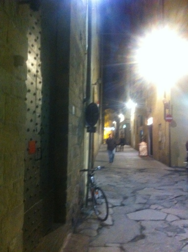 Wander the dark alleys of Florence with a bottle of wine and some friends.