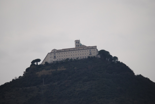 MonteCassino. The Americans blew this up at some point but they've rebuilt it.
