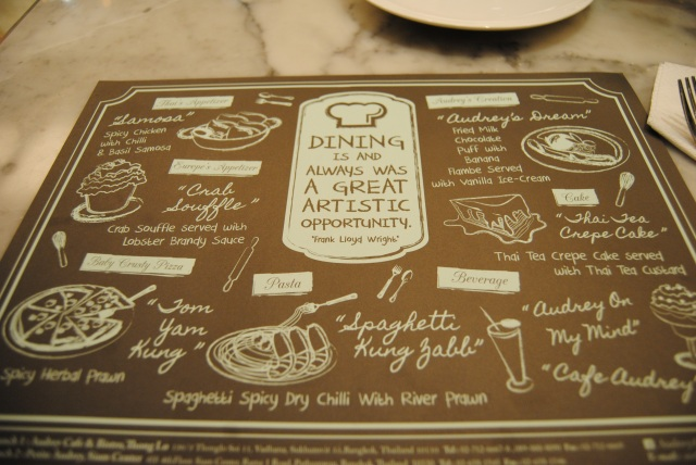 Menu In The Fusion Restaurant