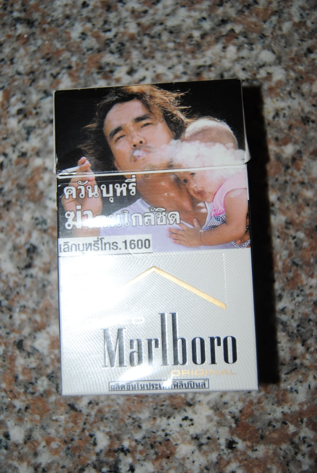 Thailand's anti-smoking campaign is much stronger than their anti-sex-worker campaign which I don't think exists. Though this image was much nicer than the packs with the rotten organs on them.