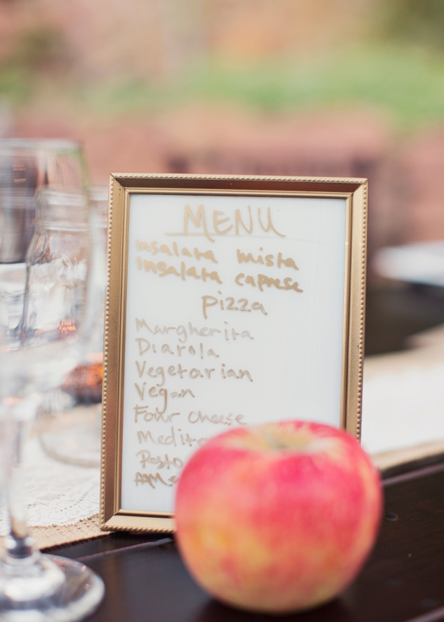 Hand-Written Pizza Menu