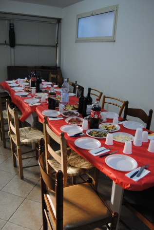 The table is set for twenty people.