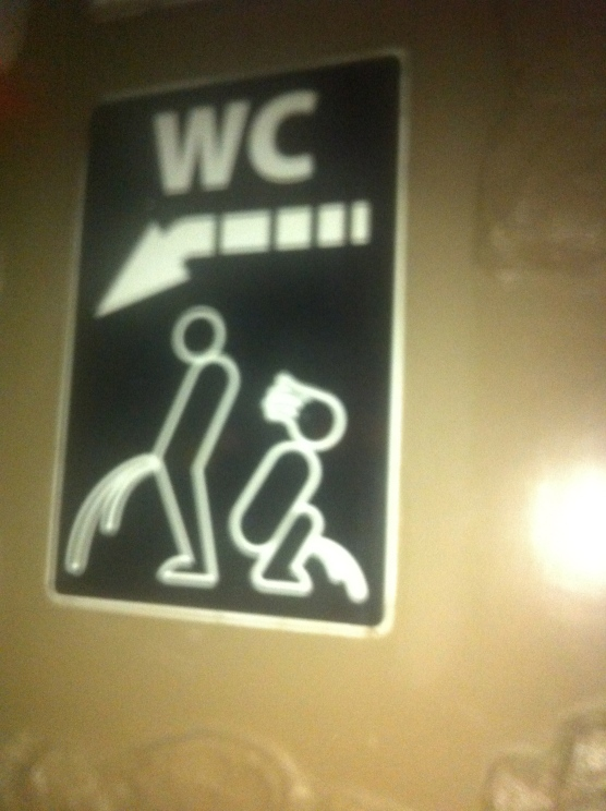 A Bathroom Sign In A Club In Florence